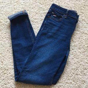 Hollister dark wash skinny jeans. Size 5R